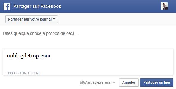 facebook problème vignette vide