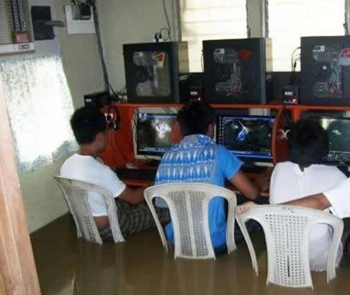 gamer,inondation,jeux