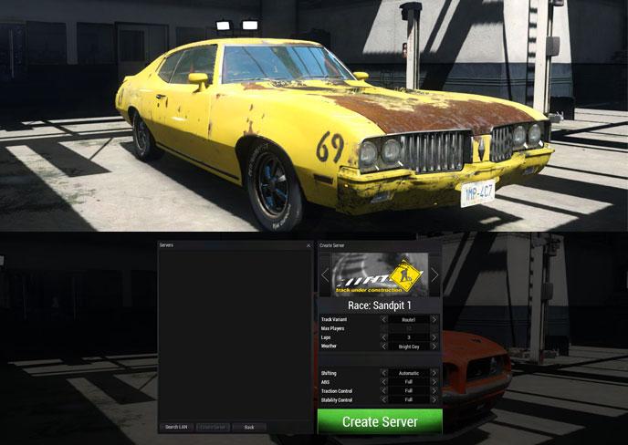 next car game lan mode